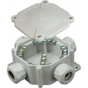 Krabica 6455-11 4.P/2 ACID.(malá 5p) PVC šedá