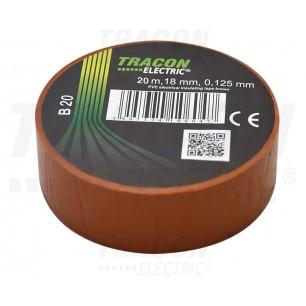 Izolačná páska 18mm/20m PVC hned. (B 20)