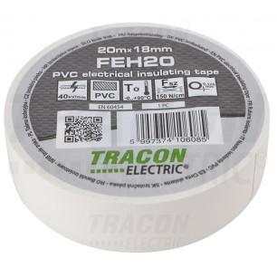 Izolačná páska 18mm/20m PVC biel. (FEH 20)