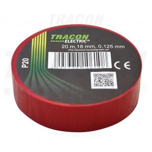 Izolačná páska 18mm/20m PVC červ. (P 20)