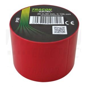Izolačná páska 50mm/20m PVC červ. (P 50)