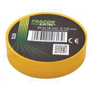 Izolačná páska 18mm/20m PVC žlt. (S20)