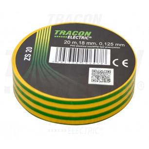 Izolačná páska 18mm/20m PVC zel.ž. (ZS 20)