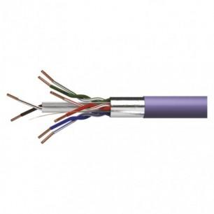 Kábel FTP-4P C 6 E (4x2x0,5) plné jadro LSZH fial.(S9230)