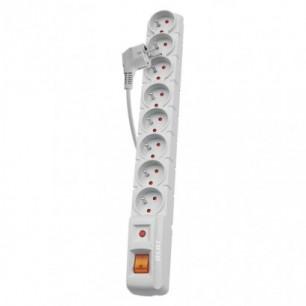 Predlžovačka s prepäťovou ochranou 1,5m-8z+vyp. (P53898) šedá
