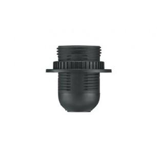 Objímka E27 čierna / závit+krúžok (D.3006)